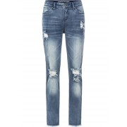 RAINBOW Boyfriend Jeans Destroy