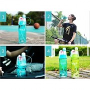 Mastercool New.B Sports Bottle With Water Spray For Outdoor Cycling Gym Everyday Use 600 ml Bottle (Pack of 1 Pink)