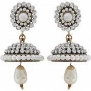 Maayra Victorian Earrings White Jhumki Wedding Festival Jewellery