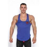Black Unicorn Shield Tank Top T Shirt Dark Blue BU054