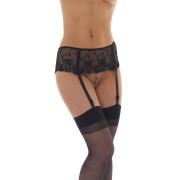 Crni cipkani pojas sa halterima RIM0001415