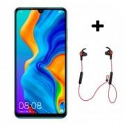P30 Lite 128GB 4G Smartphone Peacock Blue + Bluetooth слушалки Sport Red