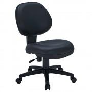 ニューアミューズ1000 W485×D610×H810-890mm 肘無し ブラック PUレザー デスクチェア OAチェア 事務椅子 オフィス家具