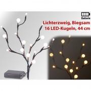 Lunartec LED-Lichterzweig mit 16 leuchtenden Kugeln, 44 cm, batteriebetrieben