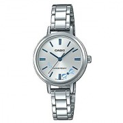 Casio Enticer Analog Silver Dial Womens Watch-LTP-E146D-2ADF (A1341)