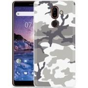Nokia 7 Plus Hoesje Army Camouflage Grey