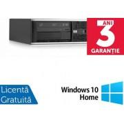 Sistem PC Refurbished HP Compaq 6200 Pro SFF (Procesor Intel® Core™ i3-2100 (3M Cache, up to 3.10 GHz), Sandy Bridge, 4GB, 250GB HDD, Intel® HD Graphics 2000, Win10 Home, Negru)