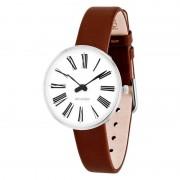 Arne Jacobsen Clocks Armbandsur Roman Vit/brun 30 mm Arne Jacobsen Clocks