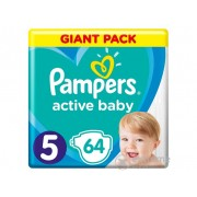 Scutece Pampers Active Baby Giant Pack, marime 5, 64 buc