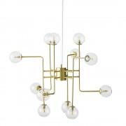 Maisons du Monde Lámpara de techo con 12 bolas de cristal y metal dorado