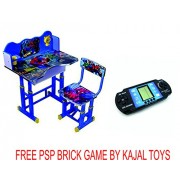 Kajal Toys™ Kids Desk and Chair with 3 D Spiderman Character