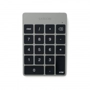 Satechi Slim Aluminum Wireless Keypad - безжична Bluetooth клавиатура с 18 бутона за MacBook (тъмносива)