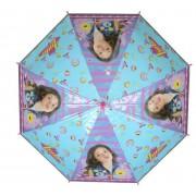 Umbrela automata Soy Luna, albastra cu dungi