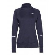 NEW BALANCE Nb Heat Pullover T-shirts & Tops Long-sleeved Blå NEW BALANCE