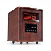 Klarstein Heatbox infravärmare 1500W 12h-timer fjärrkontroll valnöt mörk
