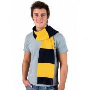 Result Gestreepte sjaal navy met goud