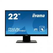 """Сензорен LCD монитор iiyama ProLite T2252MSC, 22"""", PCAP, IPS, черен"""