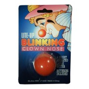 Lite Up Blinking Clown Nose