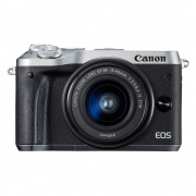 Canon EOS M6 systeemcamera Zilver + 15-45mm IS STM Zwart