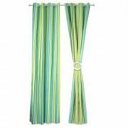 Set 2 draperii cu Dungi Verzi 250 x 260 cm Verde DRP2457