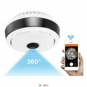 Camera IP Wireless Zenteko cu filmare 360° SMVR351N + Card MicroSD 32GB