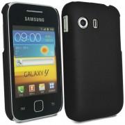 Samsung Galaxy Y Duos S6102 Твърд Калъф Черен + Протектор