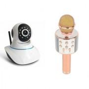 Zemini Wifi CCTV Camera and WS 858 Microphone Karake With Bluetooth Speaker for SAMSUNG GALAXY XCOVER 3(Wifi CCTV Camera with night vision |WS 858 Microphone Karake With Bluetooth Speaker)