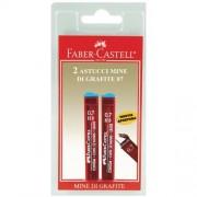 Faber-Castell Confezione 2 Astucci Con 12 Mine Poly Grafite 0,7 Mm Tipo Hb