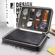 Cutie de voiaj pentru 8 ceasuri model negru