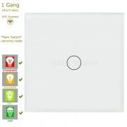 Сензорен ключ за осветление с WiFi контрол - 1 бутон (3 цвята)