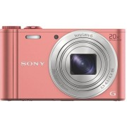 Sony Cyber-shot DSC-WX350 - Digitale camera - compact - 18.2 MP - 20x optische zoom - Wi-Fi, NFC - roze