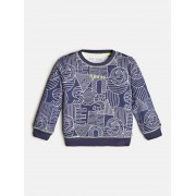 Guess Sweater All-Over Print - Blauw - Size: 6