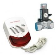 Kit detector gaz metan si GPL cu electrovana 3 4 Detect GAZ