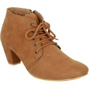 Exotique Women's Tan Casual Boot (EL0040TN)