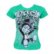 tričko dámské BLACK ICON - Cricket - Green - DICON113