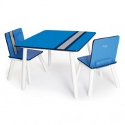 Pkolino Classically Cool Table and Chairs - Racing Stripes