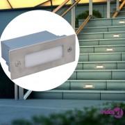 vidaXL LED ugradbena svjetla za stepenice 6 kom 44 x 111 x 56 mm