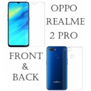 Realme 2 Pro Unbreakable Flexible Tempered Glass(Front And Back) With Anti Shock And Hammer Proof Screen Protector