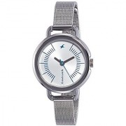 Fastrack Silver Dial Analog Womens Watch - 6123SM02
