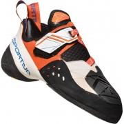 La Sportiva W's Solution Climbing Shoes White/Lily Orange 2019 EU 37,5 Klätterskor