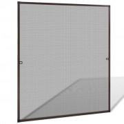 vidaXL Plasă de insecte pentru fereastra, 130 x 150 cm, maro
