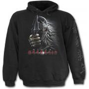 kapucnis pulóver gyermek - Black - SPIRAL - T075K301