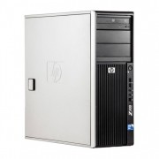 WorkStation HP Z400, Intel Xeon Quad Core W3520 2.66GHz-2.93GHz, 12GB DDR3, 1TB SATA, Placa Video AMD Radeon R5 340, 4GB GDDR5 128-Bit, DVD-RW