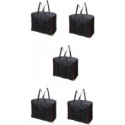 Bright Garment Bag Moistureproof Foldable Garment Cover Storage Bags for Blanket, Sarees,Toys,Clothes with Zippered Closure and Handle Garment Cover Storeg Beg - Black Garment Cover, Sarre Cover, Blenket Cover (Black) Garment Bag, Saree Cover, Blanket bag