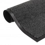 vidaXL Tapete controlo de pó retangular tufado 90x150 cm antracite