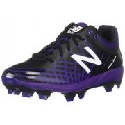 New Balance Men's 4040v5 Molded Baseball Shoe, BLACK/PURPLE, 10 M US