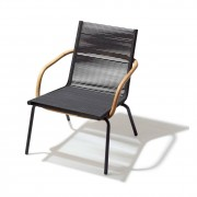 Cane-line Sidd loungestol med armstöd brun, cane-line