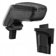 Kartámasz Seat Leon 1P (2005–2012) pro.tec műbőr fekete felhajtható tárolórekesszel