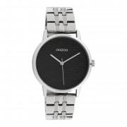 OOZOO Timepieces Zilverkleurig/Zwart horloge C10556
