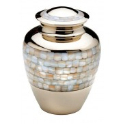 Grote Messing Urn Shiny Gold - Parelmoer (3.4 liter)